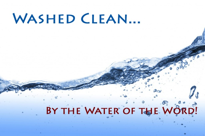 Washed By the Water of the Word copy
