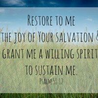 The Pursuit of a Willing Spirit: Psalm 51:12