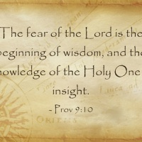 The Fear of the Lord: Proverbs 9:10