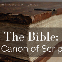 Resource: The Canon of Scripture
